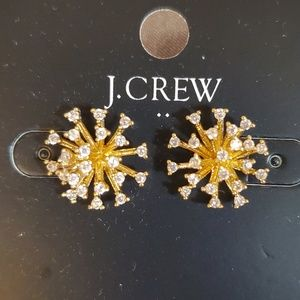 J. Crew Starburst Earrings Brand New